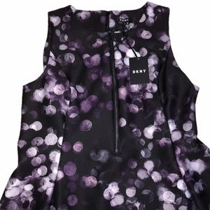 DKNY Sleeveless Zipper Front Dress -Dark Purple-16